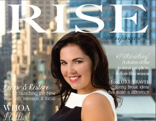 Barbara Viteri on the cover of Rise Magazine