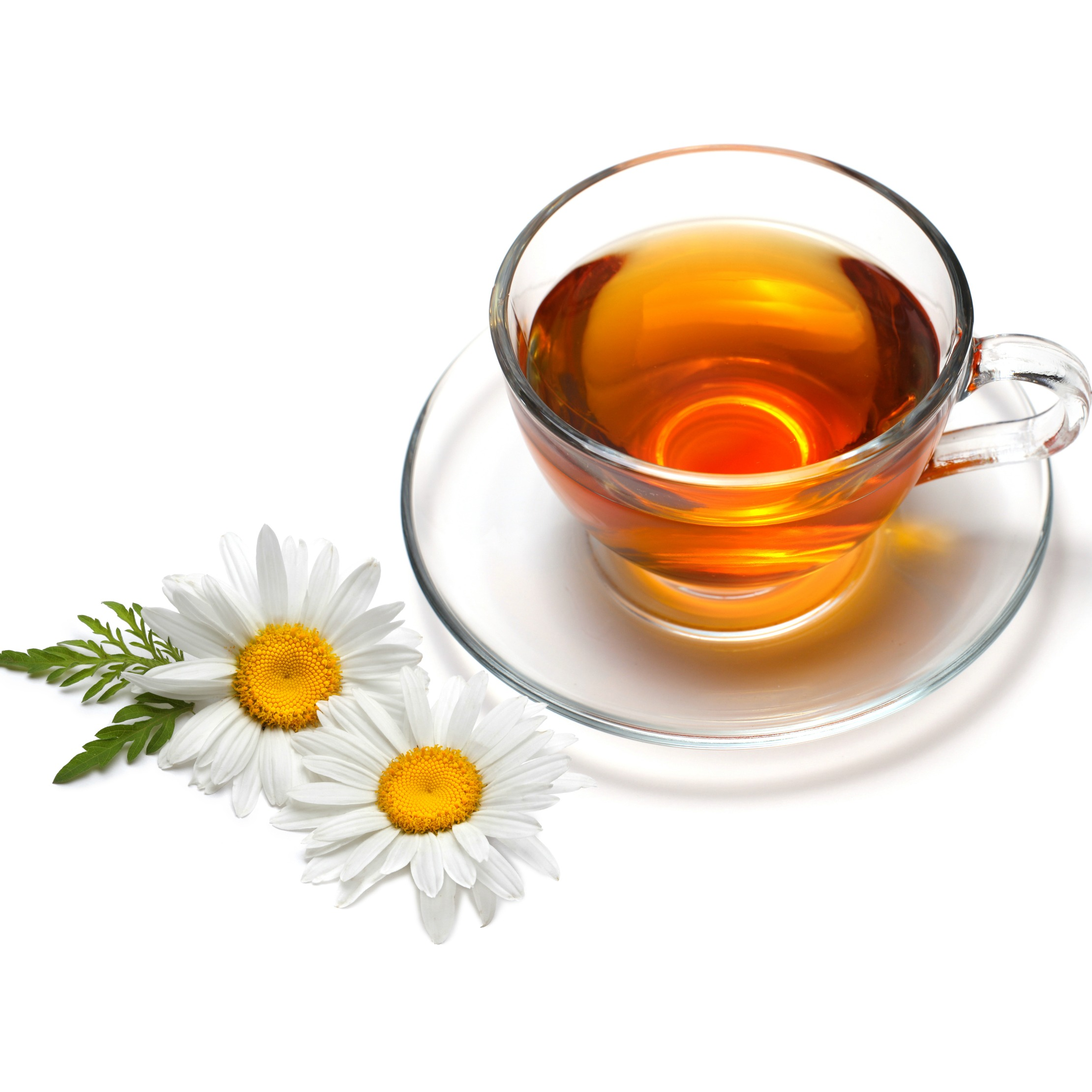 A cup of chamomilie tea will relax nerves and muscles--perfect for anyone's Sleep Better Diet.