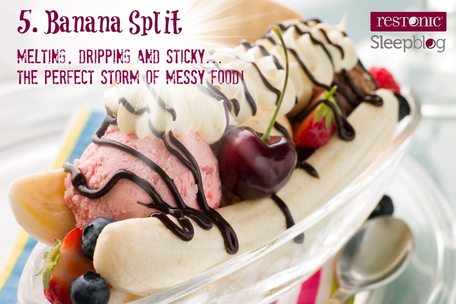 banana splits don't belong in bed