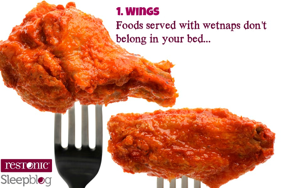 wings don't belong in bed