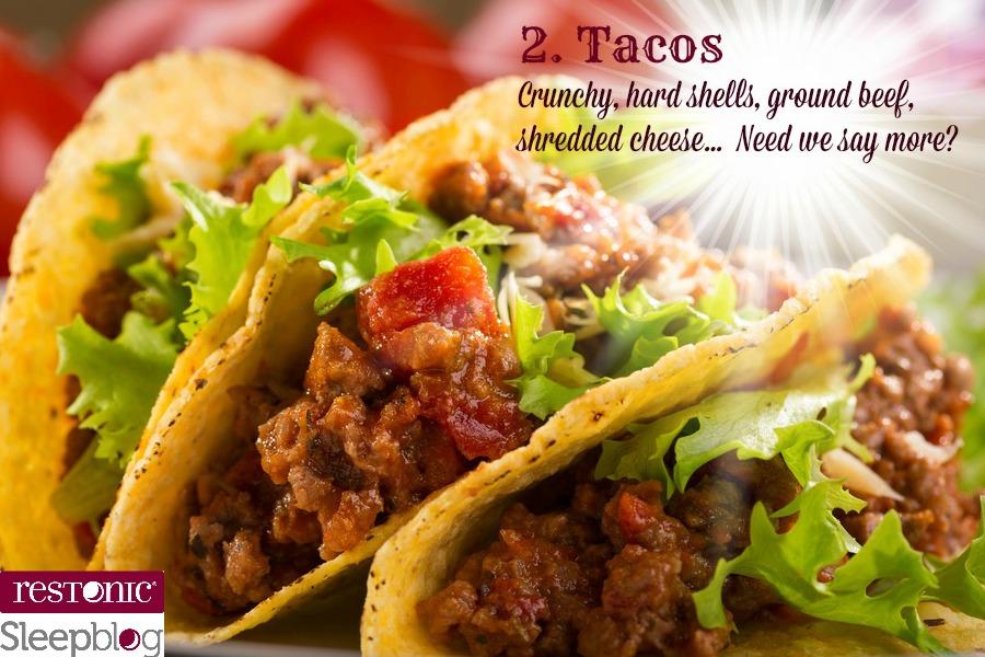 tacos don't belong in bed