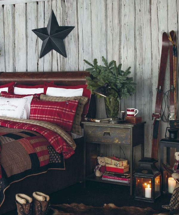 Christmas bedroom Rustic