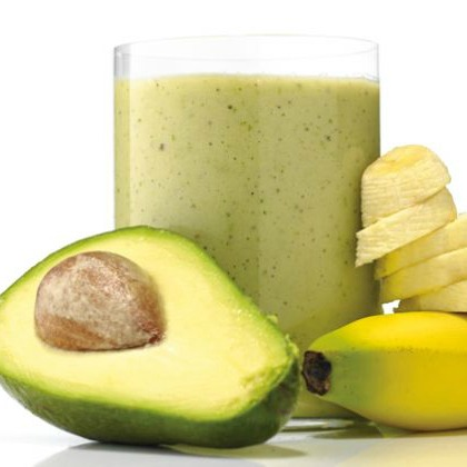 Kale, banana, kiwi, avocado, and honey smoothie recipe that is healthy and promotes a good night of sleep.