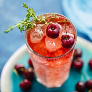 Healthy, Energy Drink Recipes - cherry lemonade
