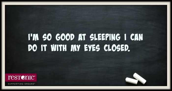 silly sayings about sleep