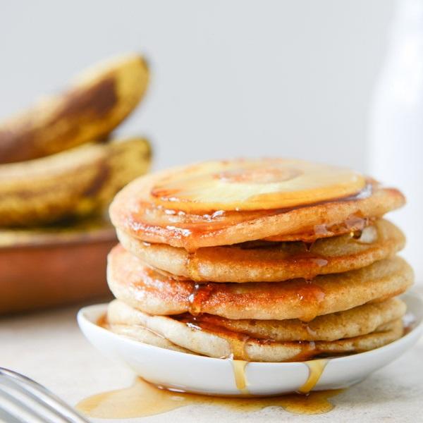 Vegan Pineapple Upside Down Banana Pancake Recipe