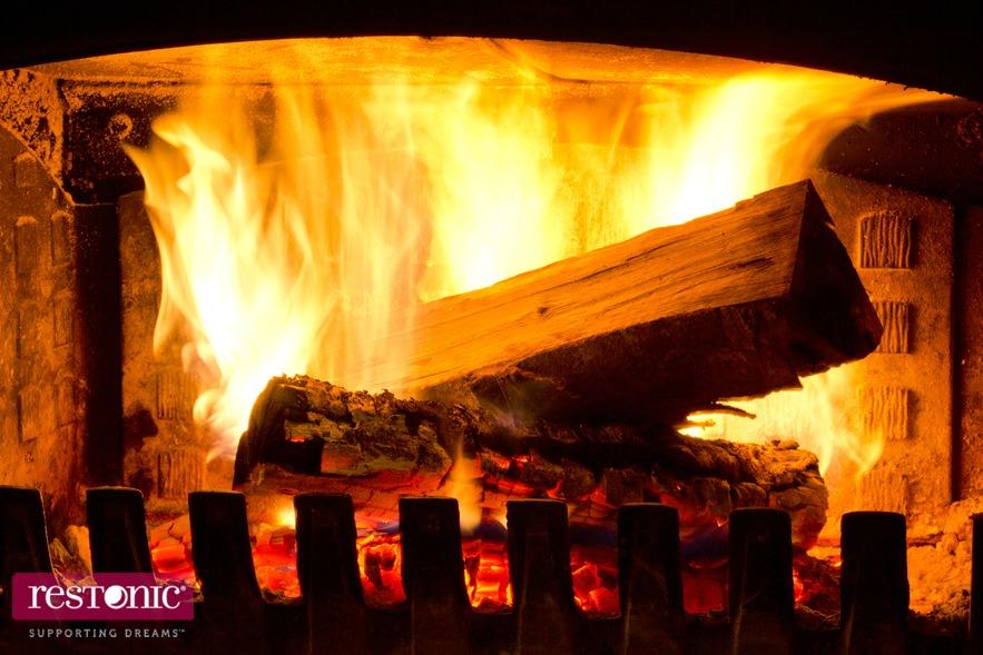 warm by fire