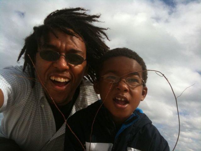 Ryan Hamilton & his son