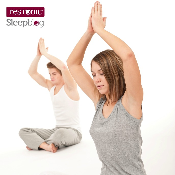 Practice yoga in the evening
