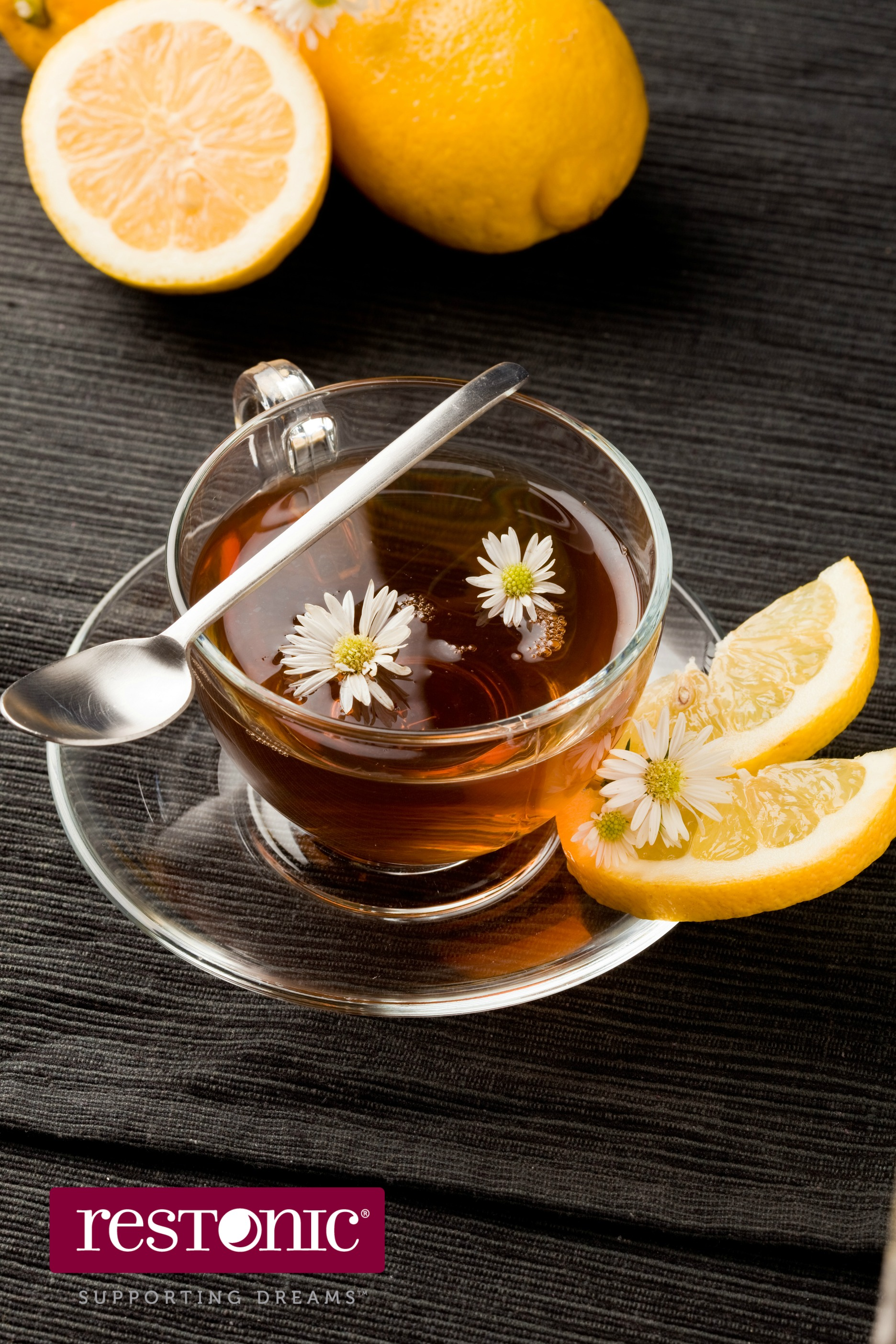 Lemon tea to help you sleep better with a cold.