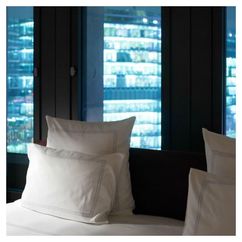 A luxurious suite at the Swissotel offers a Deep Sleep package for those who are sleep-deprived.