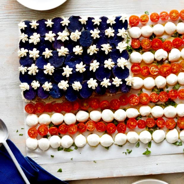 American Flag Caprese Salad Recipe