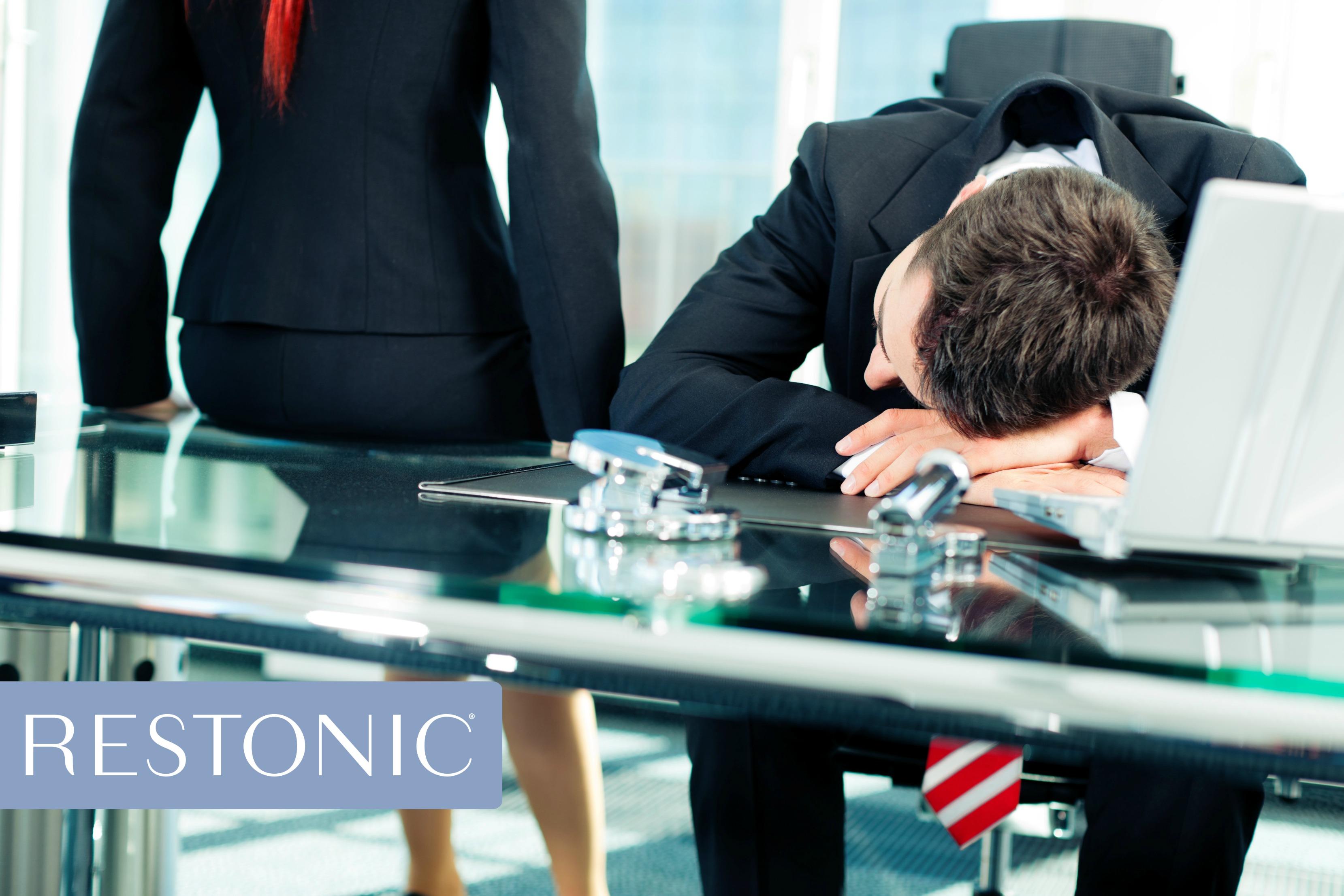 Man sleeping during a meeting