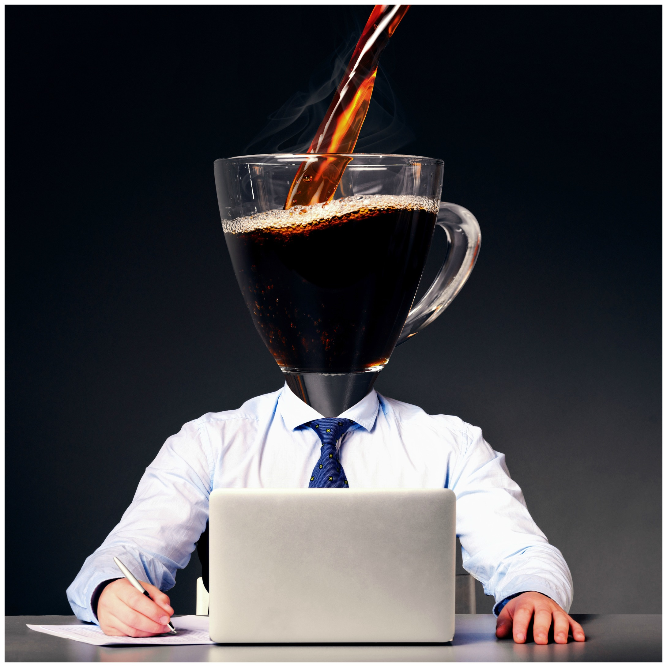 A large cup of coffee being poured which can adversely affect your sleep.