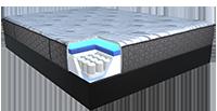 Illustration highlighting the High density medium firm foam on a mattress
