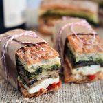 Eggplant, Prosciutto & Pesto Pressed Sandwiches