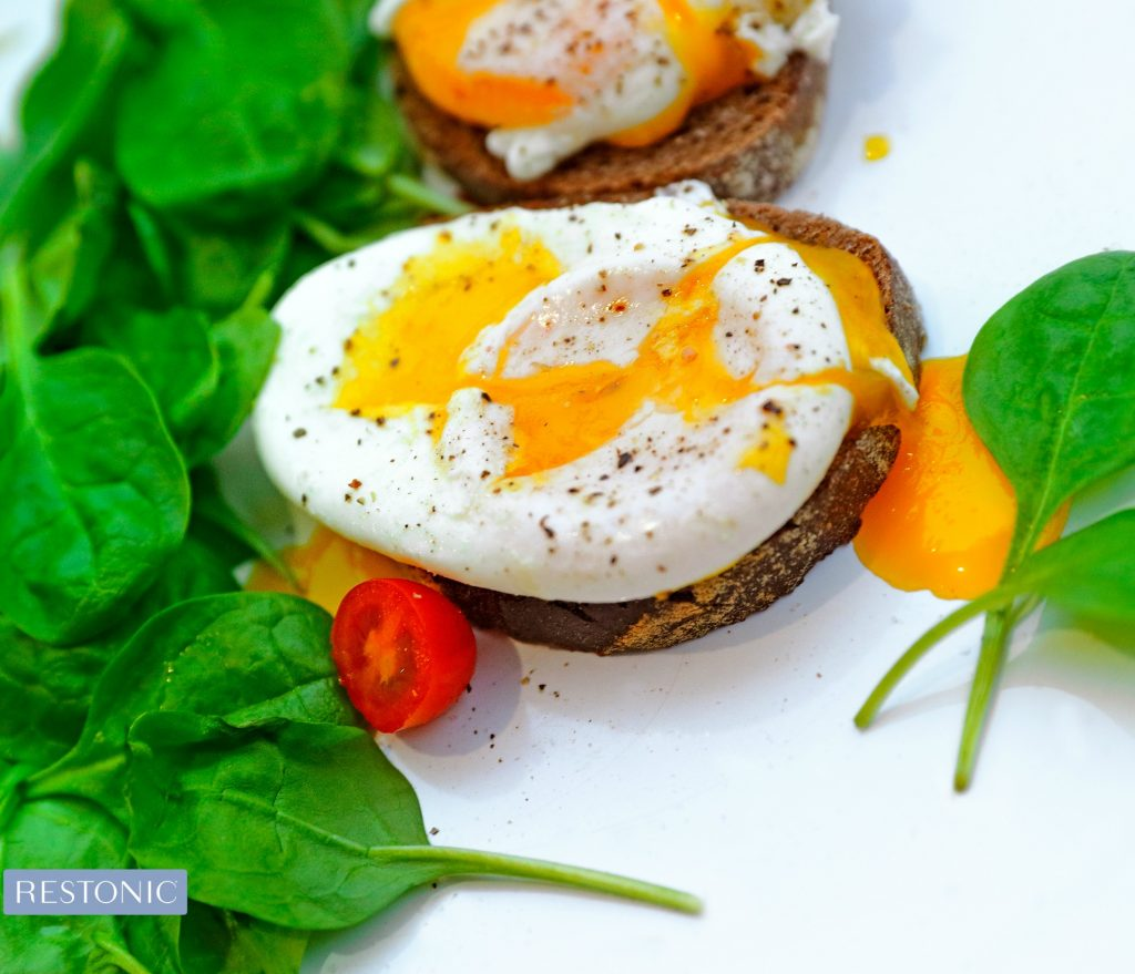 Start Your Day with a High protein breakfast - eggs and spinach on toast