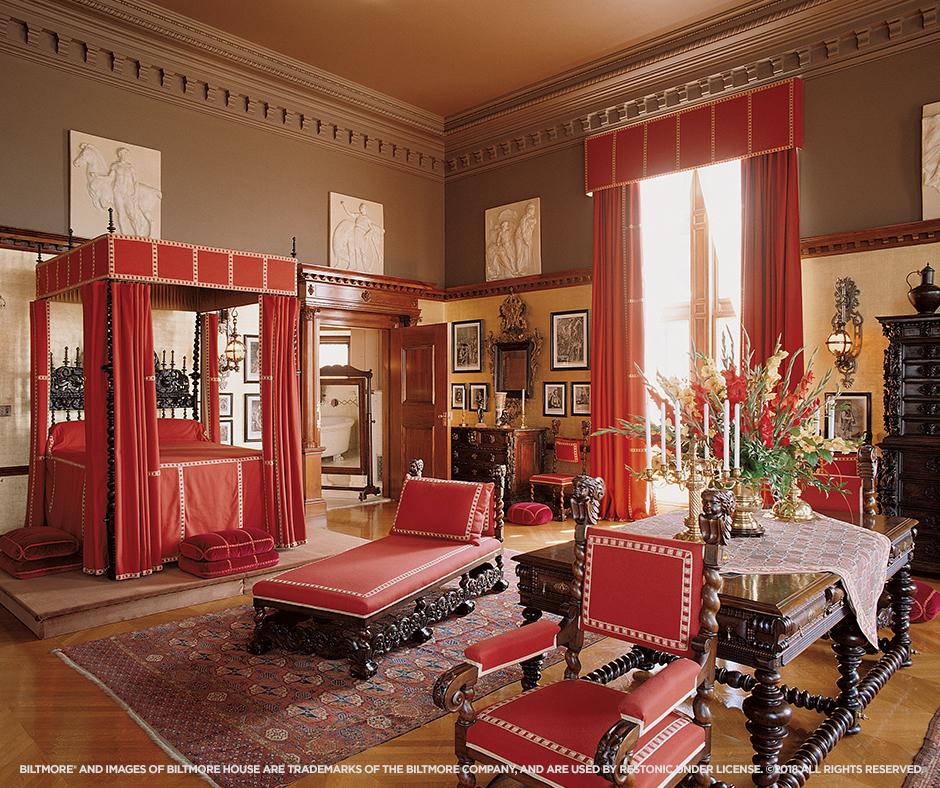 Biltmore Estate - George Vanderbilt's bedroom