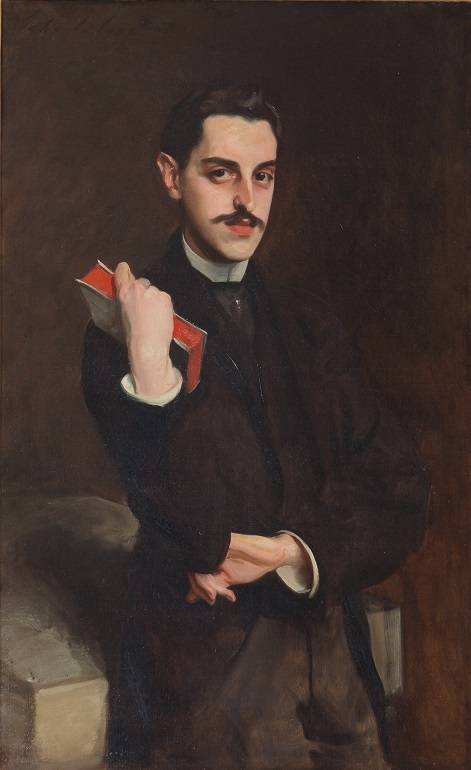 George Vanderbilt, holding a book in his right hand, had a love for books throughout his lifetime.