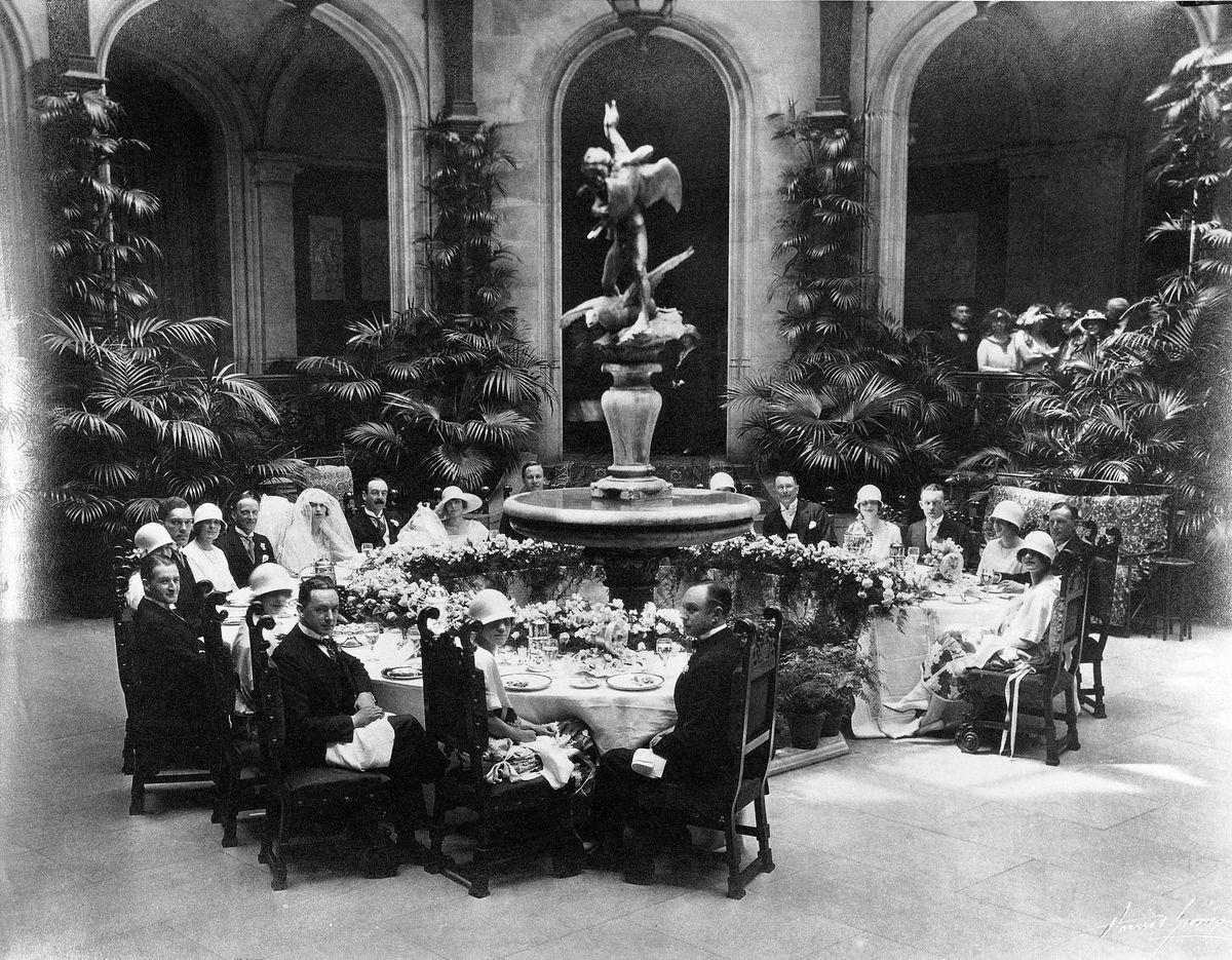 Cornelia Vanderbilt's wedding breakfast at Biltmore