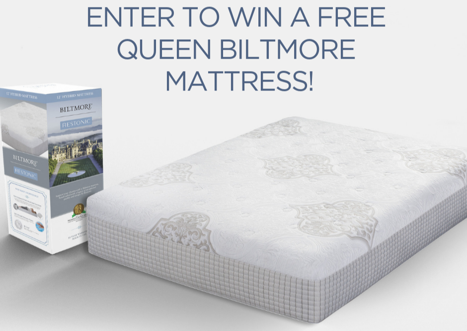 Enter to win a free Queen Biltmore mattress.