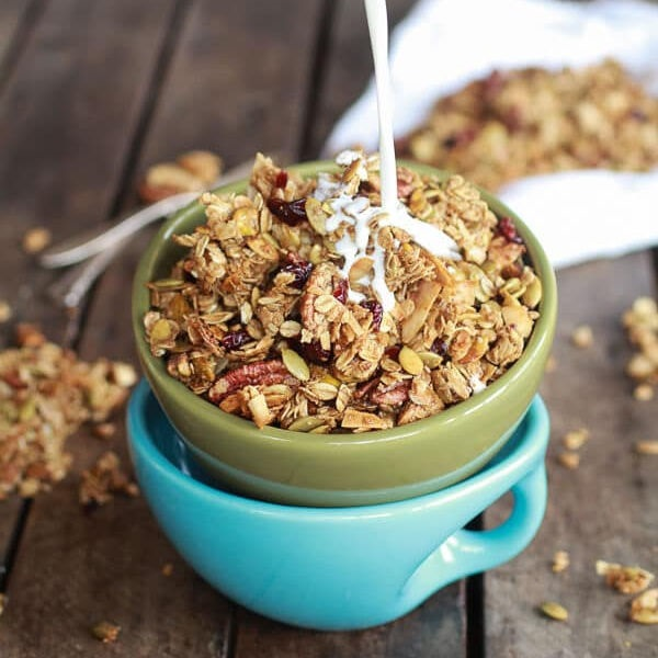 Brown Butter Pumpkin Seed Espresso Granola