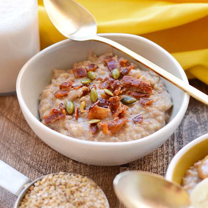 Maple Cinnamon Crockpot Steel Cut Oats Recipe