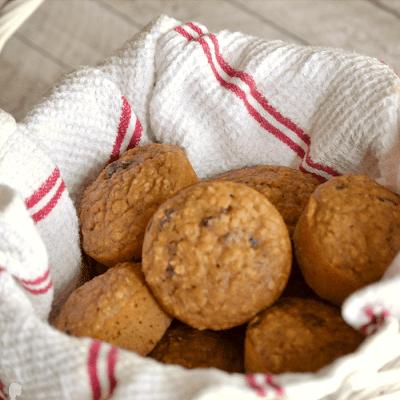 muffiny s rozinkami z ovesných vloček
