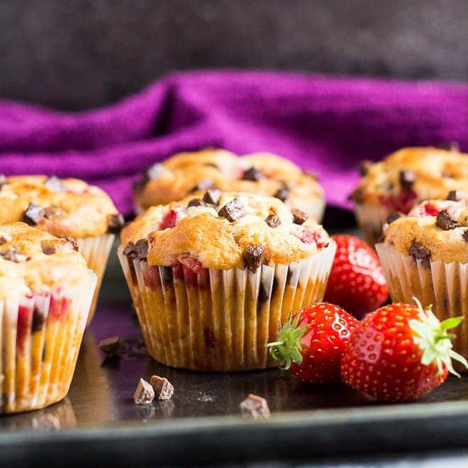 Strawberry Chocolate Muffin Recipe