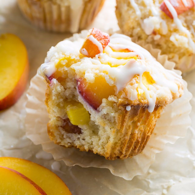 Peaches & Cream Muffin Recipe