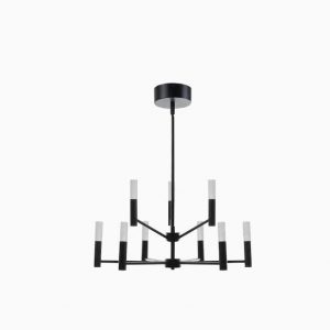 Scott Living Milan Matte Black Chandelier