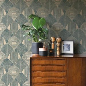 Scott Living Westport Teal Wallpaper
