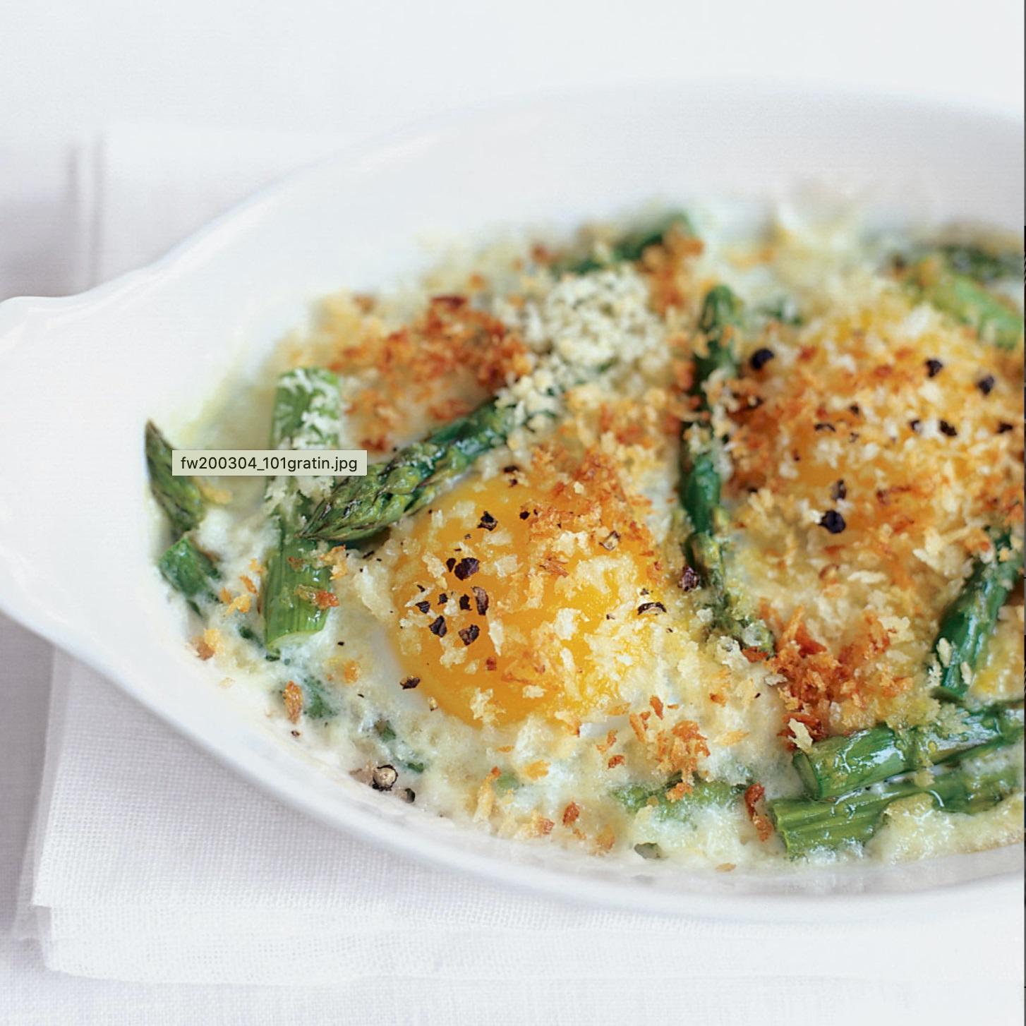 Recept na zapékané vejce a chřest