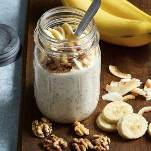 Banana cream pie overnight oats recipe