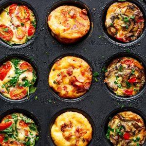 Breakfast egg muffins 3 ways recipe