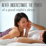 Man and woman laying on a mattress as they never underestimate the power of a good night