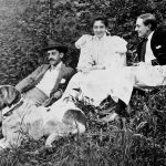 George Vanderbilt with Adele and Jay Burden June 1896 with dog